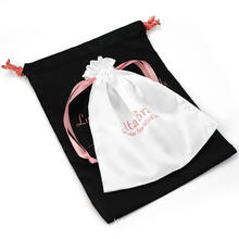 custom Luxury and cheap satin drawstring bag