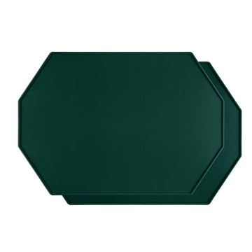 Custom Octagon Silicone Placemat  with Raised Edges