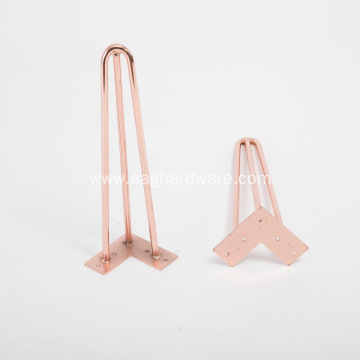 High quality copper Hairpin Iron Leg For Table
