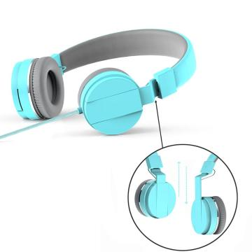Portable Foldable Mobile Phone Computer Wired Headphones