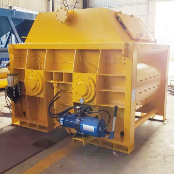 JS  twin-shaft small batch turkey concrete mixer