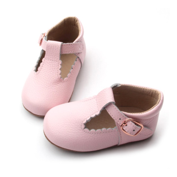 Pink Handmade T Bar Baby Dress Shoes