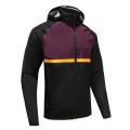 Mens Rugy Wear Zip Up Hoodies Black