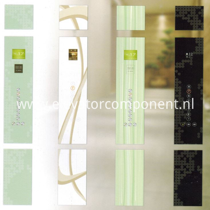 Art Passenger Elevator GLass COP Art Enamelled Tempered Glass