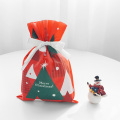 Red Christmas Tree Non-woven Gift Bags