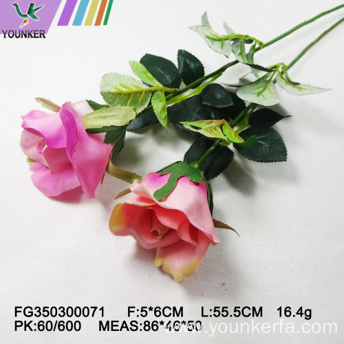 Hot Sale Latex Rose Single Decoration Artificial Flowers