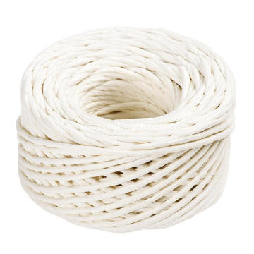 white color twisted paper rope