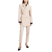 Business Lady Women Suits Overlap Twill Blazer With Pants