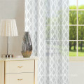 Polyester Geometric Semitransparent  Voile Sheer Curtain