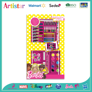 BARBIE 52 pieces coloring art set