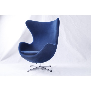 Blue Velvet Arne Jacobsen Egg Chair Replica