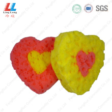 Heart seaweed customized bath sponge