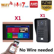 Wireless WIFI Video Door Phone Doorbell IP Apartments Intercom Kits System 1080P AHD Outdoor Cameras Phone Unlock Monitor Record