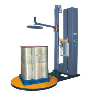 Pallet pre-stretch wrapping machine