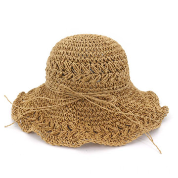 Retro handy summer hat portable straw hat