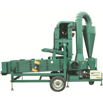 Paddy seed processing machine with destoner plate