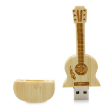 16GB Wooden Guitar Shaped USB Flash Drive