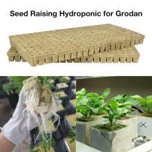 Rock Wool Cubes Compress Base Ventilative Hydroponic Grow Rockwool Cubes Soilless Cultivation Garden Supplie 100pcs