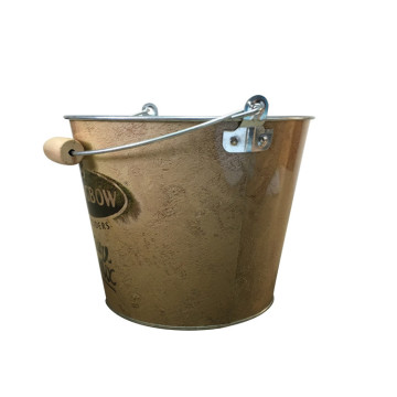 Custom Printed Round Party Wooden Handle Bucket