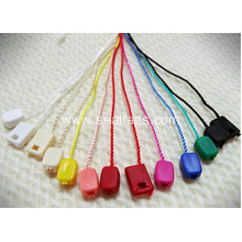 Nylon string tag for clothing