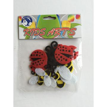 felt craft-bug and bees