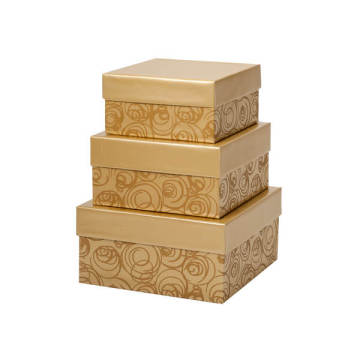 Extra large different sized paper cardboard nested boxes
