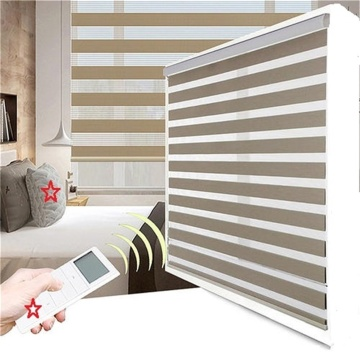 Motorized Zebra Roller Shadings