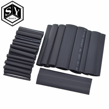 127PCS/set GREAT IT Assorted Heat Shrink Tube Black Wire Wrap Electrical Insulation Cable Sleeving 2-13mm