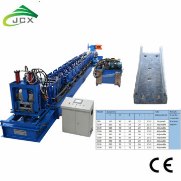 C section roll forming machine