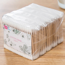 Multi-function 500pcs Eyelash Extension Remover Microbrush Disposable Double Head Cotton Buds Tip Swab Wood Sticks Makeup Tools