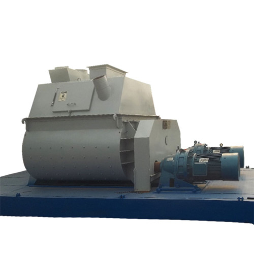 Electric twin shaft concrete mixer for sale