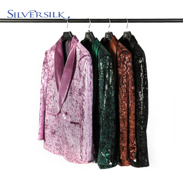 Shiny Reversible Sequins Dance Party Jacket Men Suits
