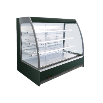 Supermarket vertical air cooling fresh meat display half height open chiller