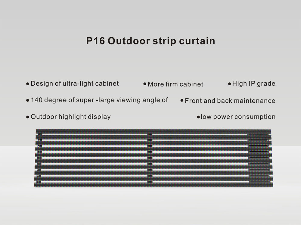 Outdoor LED Curtain Display Media Facade