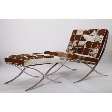Knoll barcelona chair and ottoman reproduction