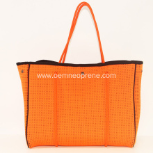 Perforated tote bag beach vacation gift bags