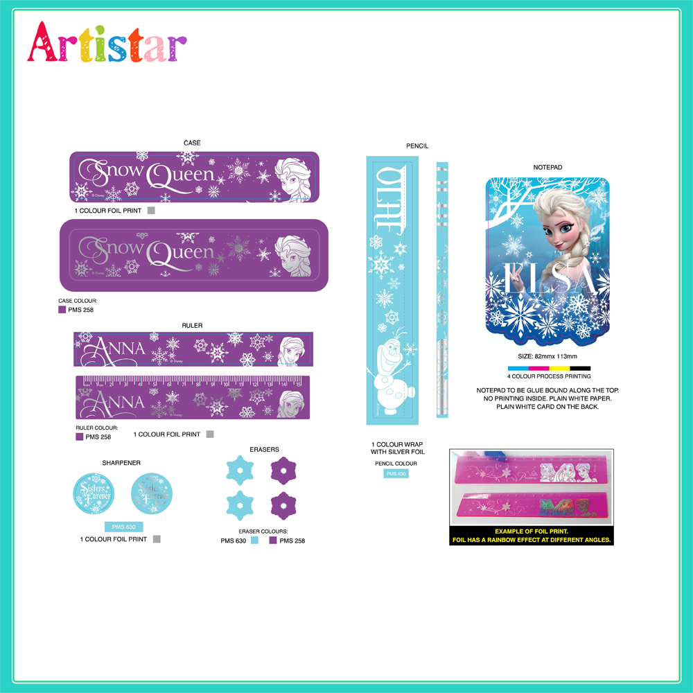 Disney Frozen Stationery Blister Card Set