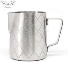 Coffee Pitcher Milk Latte Jug With Etching Pattern