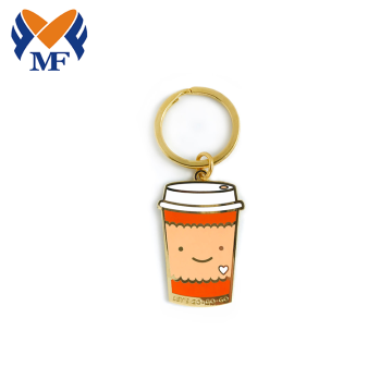 Factory customized Coffee Design hard enamel keychain