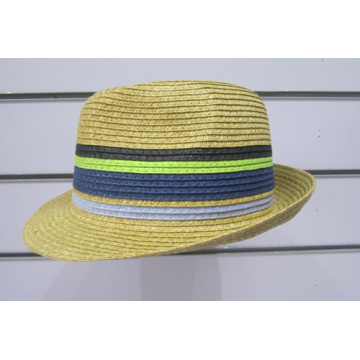 Colorful Fine Paper Braid Fedora Hats