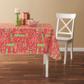 Tablecloth PE with Needle-punched Cotton Christmas Square