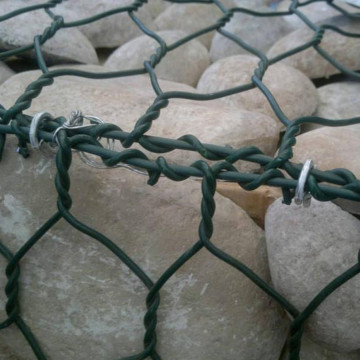Dark Green PVC Coated Gabion Stone Cage