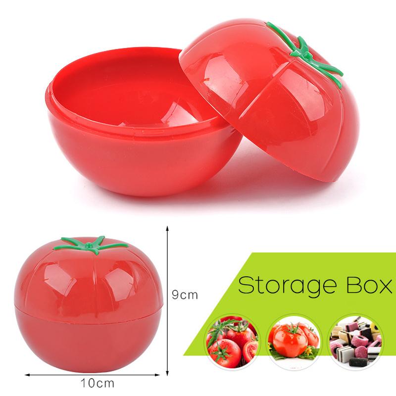Fruit Shape Condiments Storage Box Fruit Tomato Onion Organizer Fresh Keeping Container Food Fridge Case Kitchen Storage Boxes