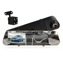 Car Dvr Dual Lens Car Driving Video Recorder Rear view Mirror Recorder Auto Vehicle Black Box Dash Cam 4.3 Inches LCD Screen