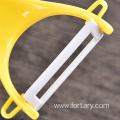 plastic multipurpose vegetable fruit citrus ceramic peeler