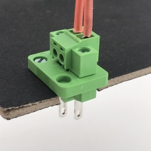 2pin through wall mounted plug-in terminal block connector