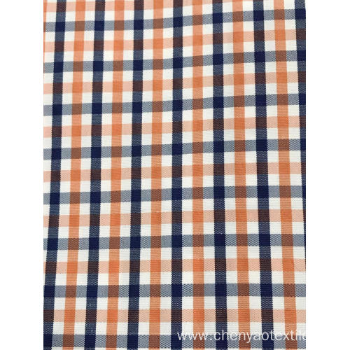 T/C(30%Cotton70%Polyester) High Density Plaid Fabric