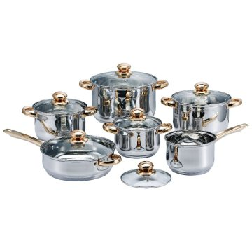 Tight-Fitting Stainless Steel Cookware Set
