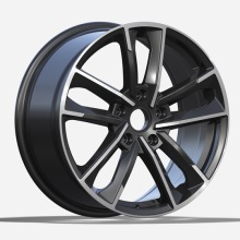 Flat Black Machined Face Audi Replica Wheels