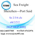 Shenzhen Port Sea Freight Shipping To Port Said